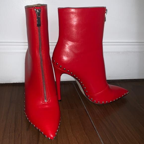 Fashion Nova Shoes - fashion nova red heel booties